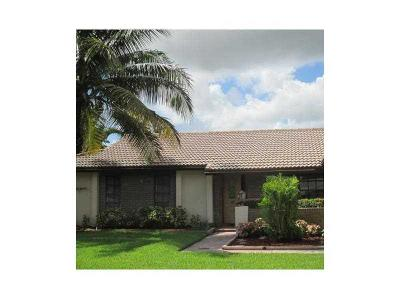 Coral Springs Single Family Home For Sale: 11578 NW 39 Place