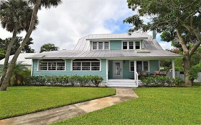 Fort Pierce Single Family Home For Sale: 5605 S Indian River Drive