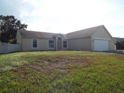 Port Saint Lucie Single Family Home For Sale: 1074 SW Benschop Avenue