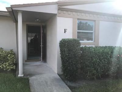 West Palm Beach Single Family Home For Sale: 2546 Dudley Drive E #F