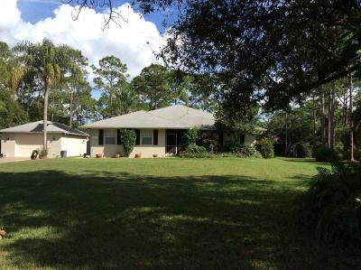Jupiter Single Family Home For Sale: 18664 129th Terrace