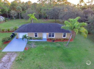 Loxahatchee Single Family Home For Sale: 15390 89th Place