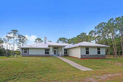 Loxahatchee Single Family Home For Sale: 18710 90th Street