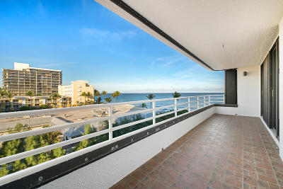 Highland Beach Condo For Sale: 2901 S Ocean Boulevard #404
