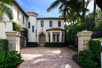 Palm Beach FL Single Family Home For Sale: $8,300,000