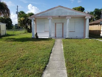 West Palm Beach Single Family Home For Sale: 618 53rd Street