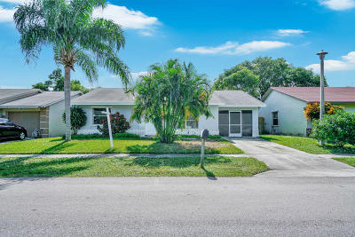 Lake Worth Single Family Home For Sale: 6133 Wauconda Way