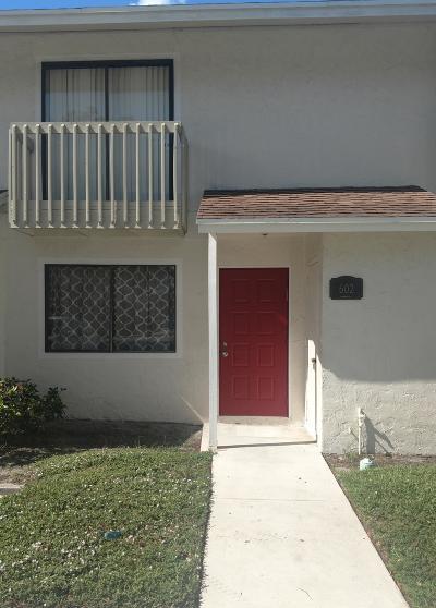 Greenacres Townhouse For Sale: 602 Riverside Drive