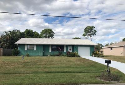 Port Saint Lucie Single Family Home Contingent: 719 SE Autumn Terrace