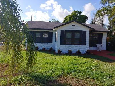 Lake Worth Single Family Home For Sale: 631 S B Street