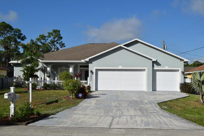 Port Saint Lucie Single Family Home For Sale: 3420 SW Funtuna Street