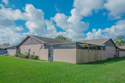 West Palm Beach Single Family Home For Sale: 4814 Sunny Palm Circle #D