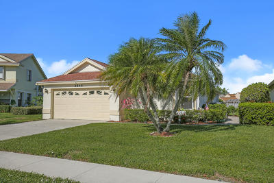 West Palm Beach Single Family Home For Sale: 3846 Circle Lake Drive