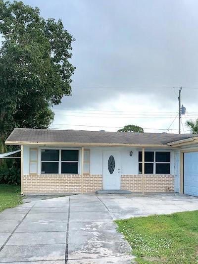 Palm Beach Gardens FL Single Family Home For Sale: $298,000