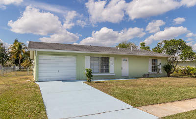 Port Saint Lucie Single Family Home For Sale: 838 SW Goodrich Street