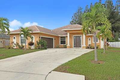 Port Saint Lucie Single Family Home For Sale: 6650 NW Omega Road