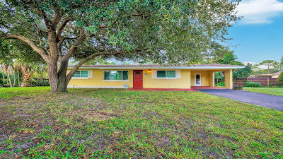 West Palm Beach Single Family Home For Sale: 5678 Silvian Road