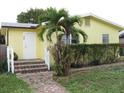 Lake Worth Single Family Home For Sale: 1507 19th Avenue #A