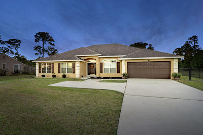 Port Saint Lucie Single Family Home For Sale: 137 SW Tulip Boulevard