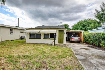 Lake Worth, Lakeworth Single Family Home For Sale: 1206 Highview Road