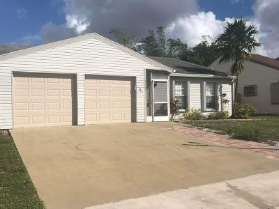 Lake Worth Single Family Home For Sale: 5167 Canal Circle S