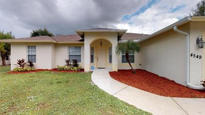 Port Saint Lucie Single Family Home For Sale: 4549 SW Athena Drive