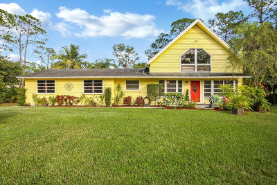 Jupiter Single Family Home For Sale: 17660 Bridle Court