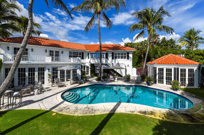 Palm Beach FL Single Family Home For Sale: $5,895,000