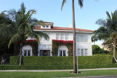 Palm Beach FL Single Family Home For Sale: $5,750,000