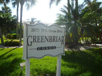 Boca Raton Condo For Sale: 2679 S Ocean Boulevard #5-C