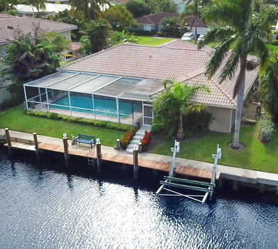 Boca Raton FL Single Family Home For Sale: $1,100,000