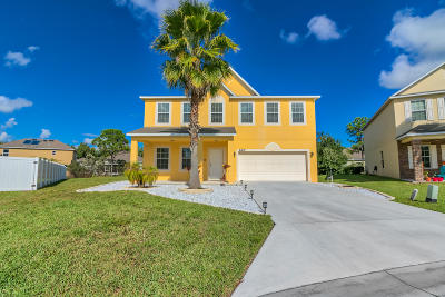 Port Saint Lucie Single Family Home For Sale: 6101 NW Butterfly Orchid Place