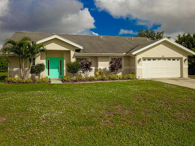 Port Saint Lucie Single Family Home For Sale: 925 SW Jacqueline Avenue