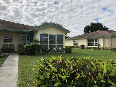 Delray Beach Single Family Home For Sale: 5445 Lakefront Boulevard #D
