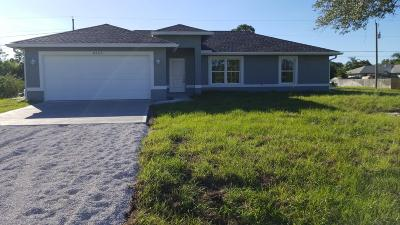Vero Beach Single Family Home For Sale: 8365 97th Ct Court