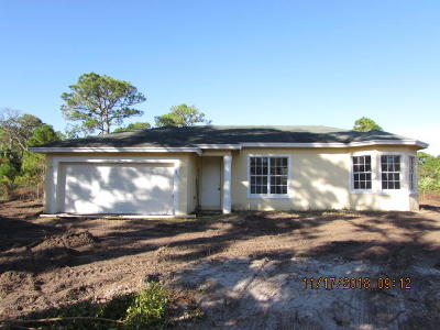 Fort Pierce Single Family Home For Sale: 3017 W Dixie Boulevard