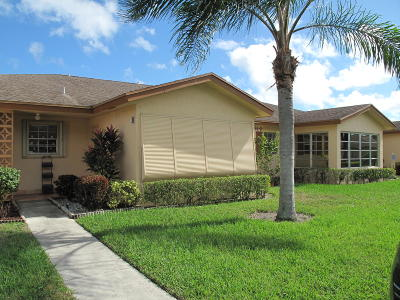Delray Beach Single Family Home For Sale: 14569 Canalview Drive #B
