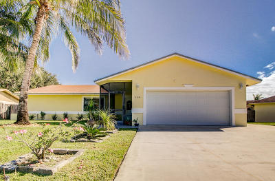 Royal Palm Beach Single Family Home Contingent: 134 Santa Monica Avenue