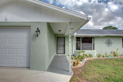 Port Saint Lucie Single Family Home For Sale: 1193 SW Hibiscus Street