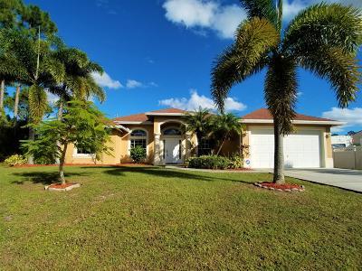 Port Saint Lucie Single Family Home For Sale: 3485 SW Ellis Street