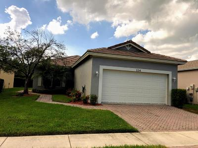 Port Saint Lucie Single Family Home For Sale: 254 SW Manatee Springs Way