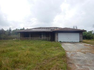 West Palm Beach Single Family Home For Sale: 12316 Orange Boulevard