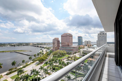 West Palm Beach Rental For Rent: 525 S Flagler Drive #15d