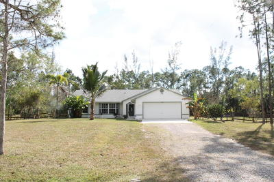 Loxahatchee Single Family Home For Sale: 16144 83rd Place