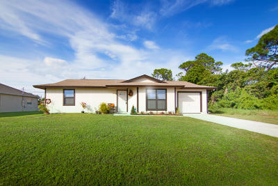 Port Saint Lucie Single Family Home Contingent: 1031 SW Barbarosa Avenue