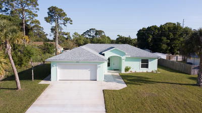 Fort Pierce Single Family Home For Sale: 6602 Penny Lane