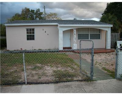 West Palm Beach Single Family Home For Sale: 726 56th Street