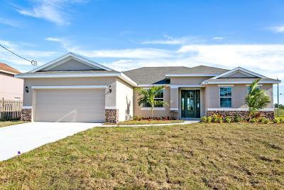Port Saint Lucie Single Family Home For Sale: 1051 SW Jericho Avenue