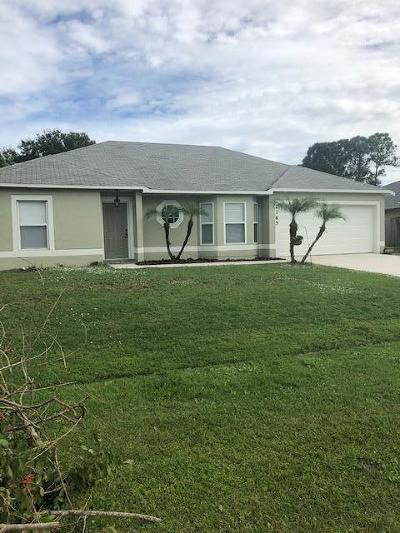 Port Saint Lucie Single Family Home Contingent: 2165 SW Gemini Lane