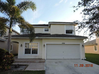 Lake Worth Single Family Home For Sale: 4900 Lombard Pass Drive